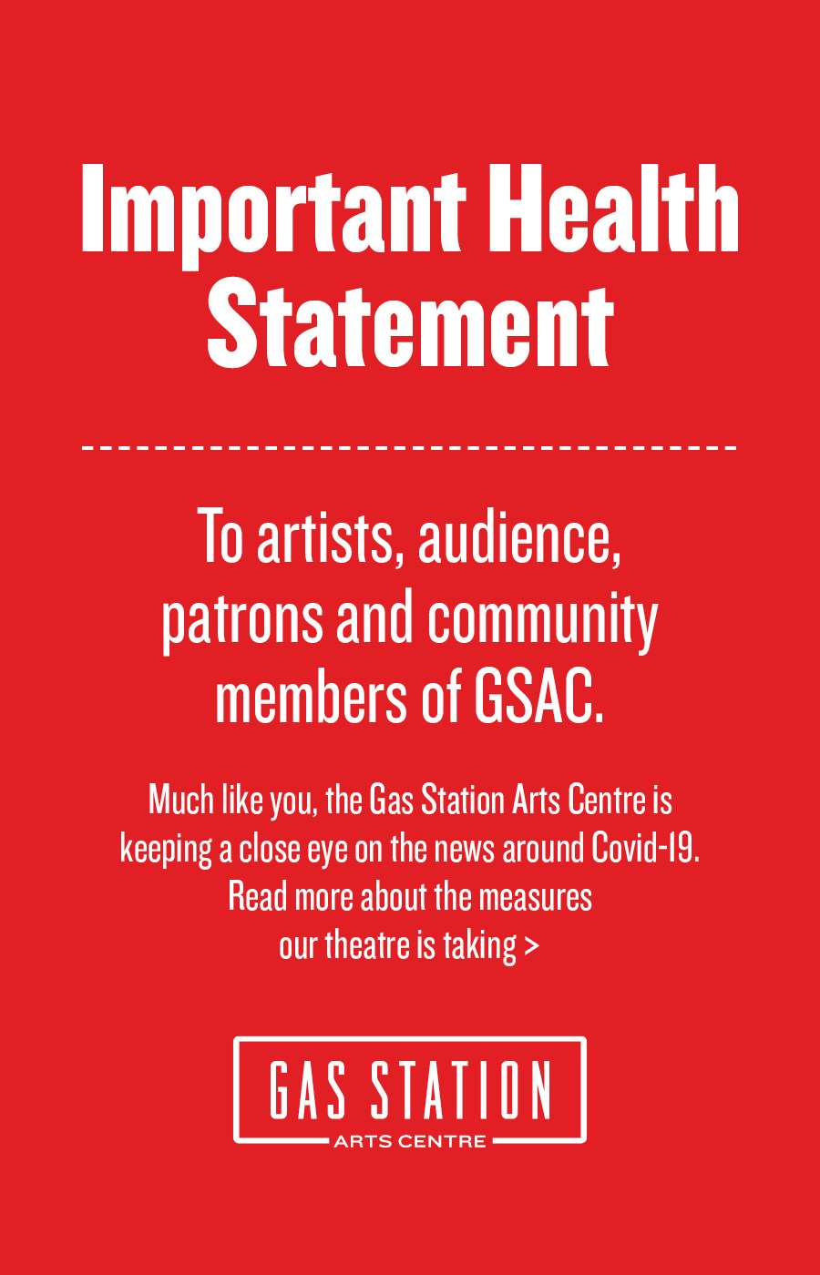 GSAC Health Statement